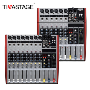 8 Channels Pro Audio Mixer with USB Bluetooth