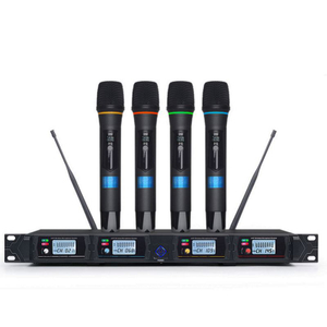 Tiwa 4 channel UHF wireless microphone with bodypack handheld headset microphone