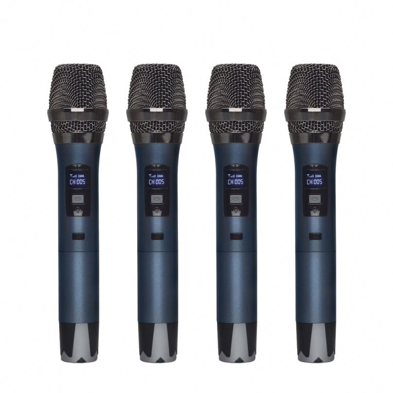 Professional 4 Channel UHF Wireless Microphone handheld microphone headset microphone