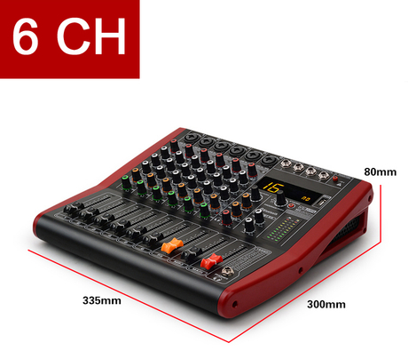 Tiwastage 6 channel audio mixing console DJ mixer