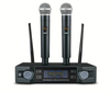 High Quality Professional Dual Channel Wireless Microphone System stage performance two wireless microphone Ktv singing mic